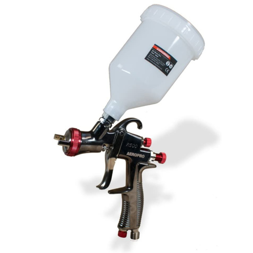 AEROPRO USA R500 LVLP Gravity Feed Air Spray Gun